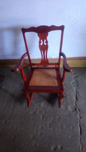 rocking chair with wicker seat
